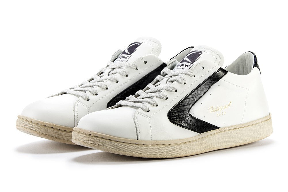 VALSPORT 1920 Men sneakers white glossy black leather