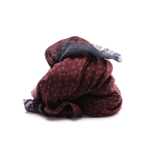 DANDY STREET mens bordeaux coffee beans Scarf