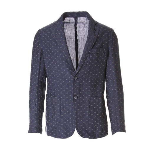BASTONCINO mens blue linen Jacket