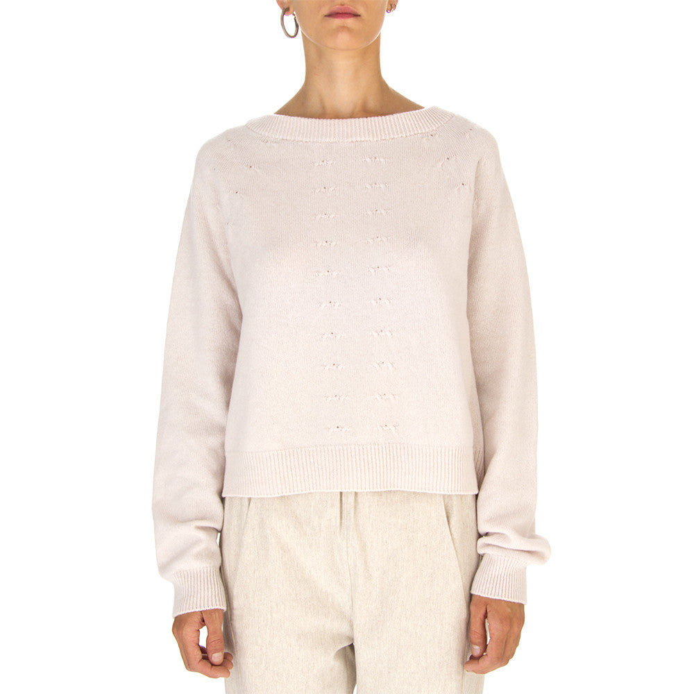 SEMICOUTURE Womens pale pink wool cashmere Sweater