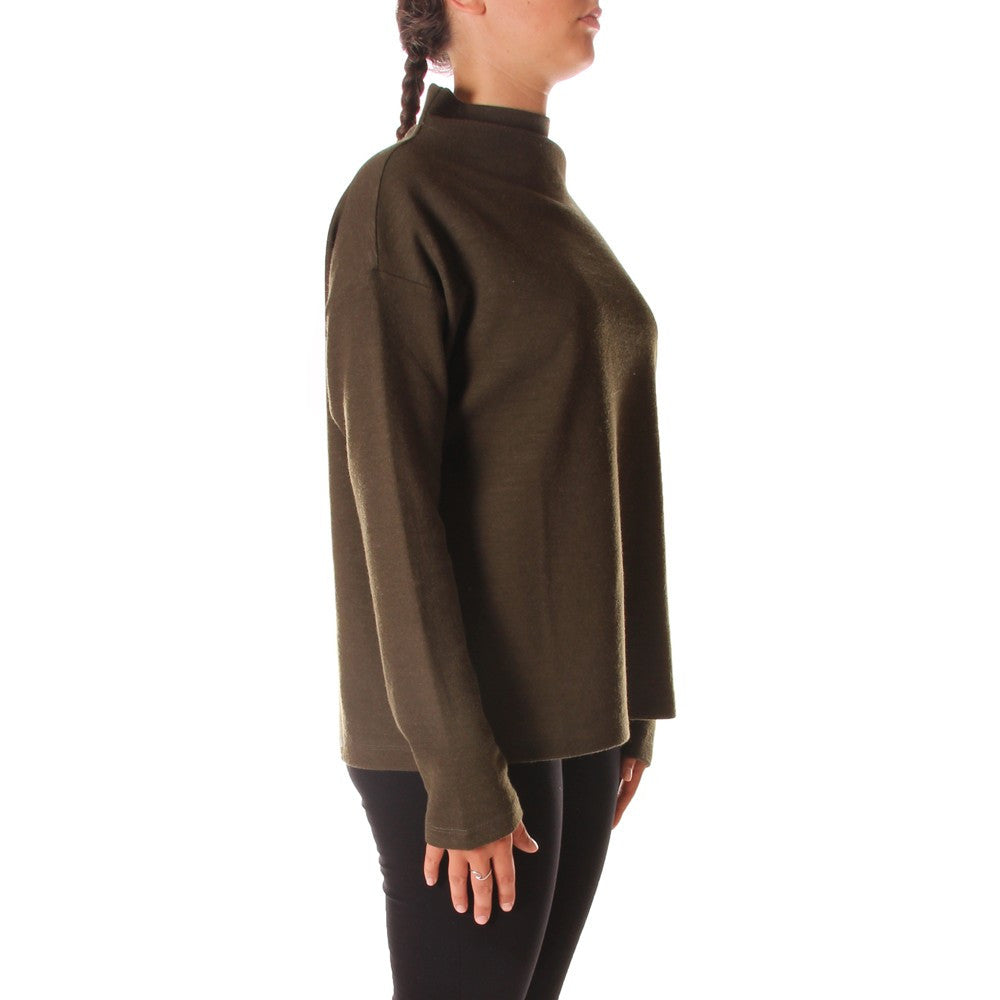 BIONEUMA womens forest green wool blend Sweatshirt