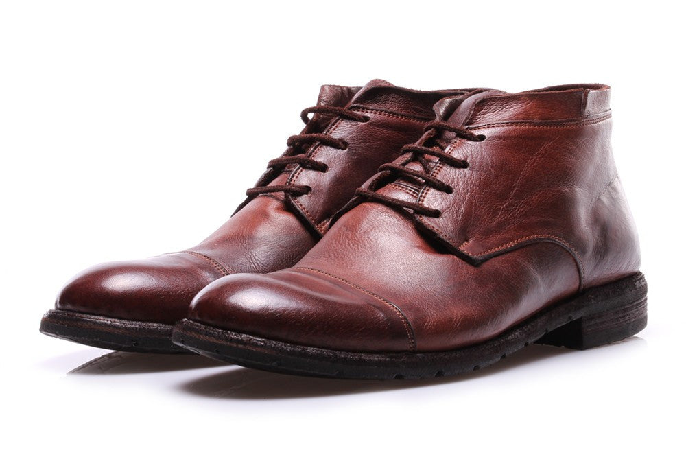 MANOVIA 52 mens brown Ankle boots lace-up