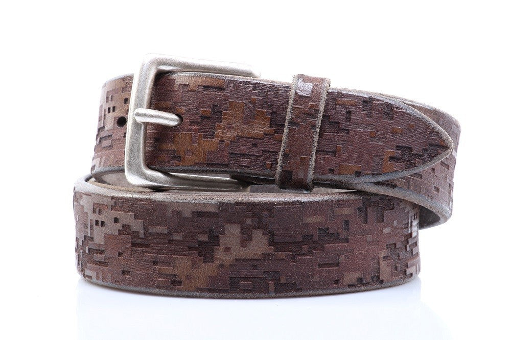 ORCIANI mens grey brown leather Belts
