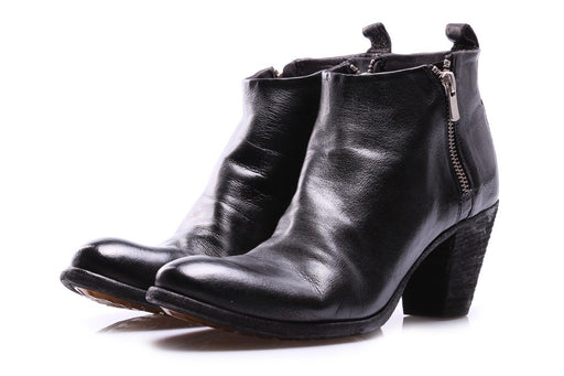 OFFICINE CREATIVE womens black leather Ankle boots