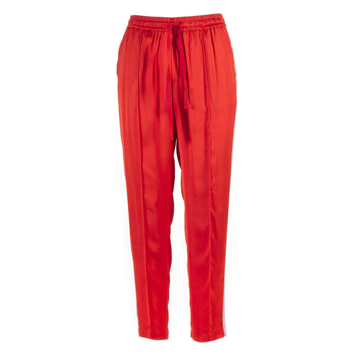SEMICOUTURE womens red viscose Trousers