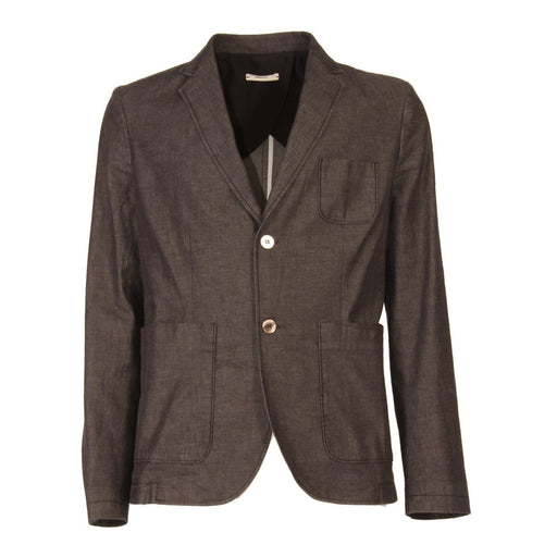 OBVIOUS BASIC mens brown black Blazer