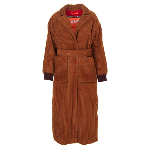 OOF womens brown velvet Long coat