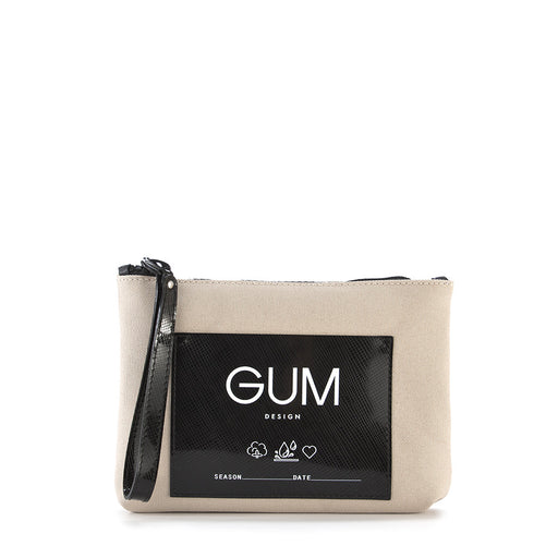 GUM CHIARINI womens beige black waterproof Wristlet