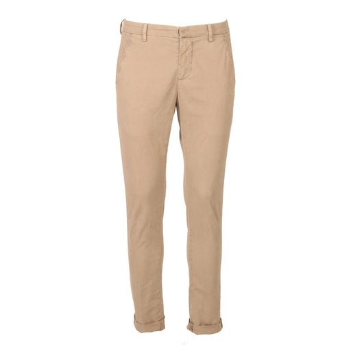 DONDUP mens beige stretch cotton Chino pants