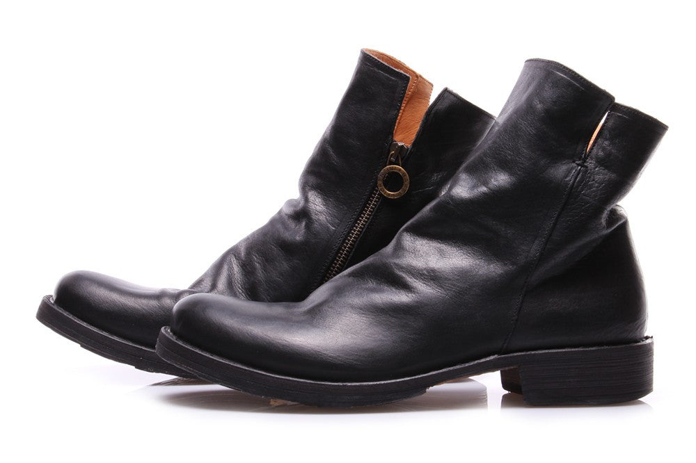 FIORENTINI + BAKER mens black nappa leather Ankle boots