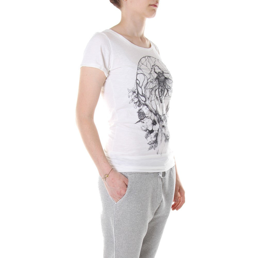 ALFRED BASHA womens Fly and deer white T-shirts