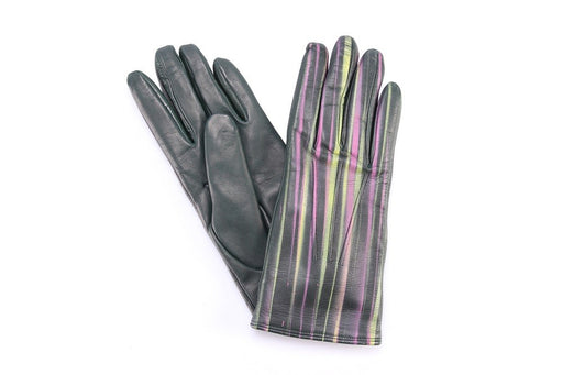 5 FINGERS women green multicolor Gloves leather wool nappa