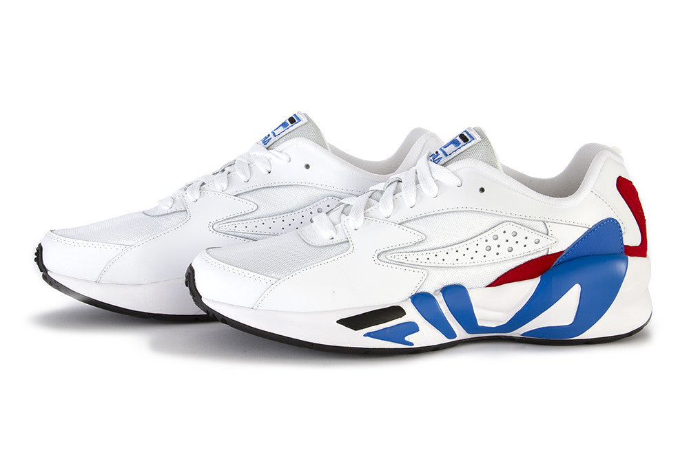 FILA mens white blue red leather Sneakers
