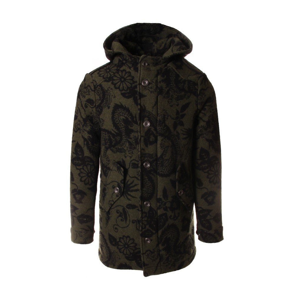 MASON'S mens green wool Jacket printed