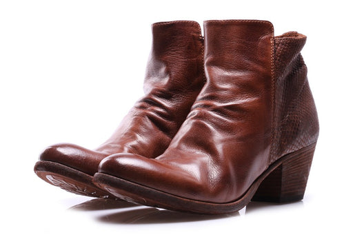 OFFICINE CREATIVE womens tobacco brown Ankle boots