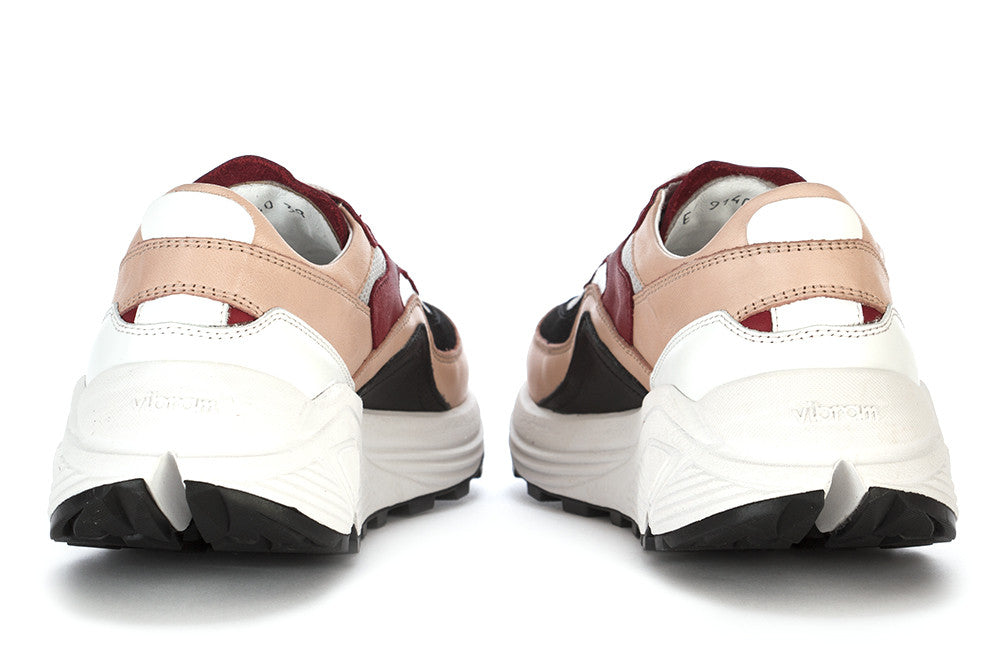 MANOVIA 52 womens rose bordeaux leather Sneakers