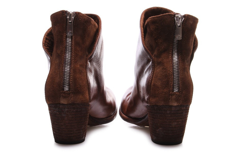 OFFICINE CREATIVE womens brown leather Ankle boots