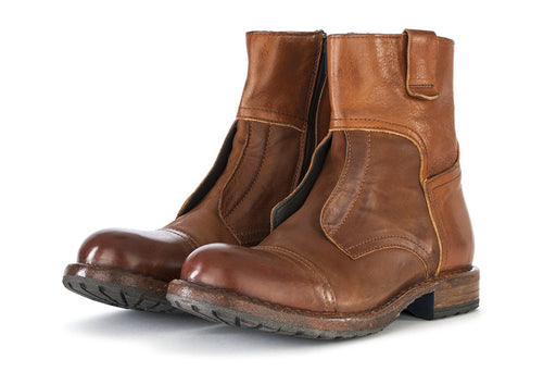 MOMA mens brown calfskin Ankle boots
