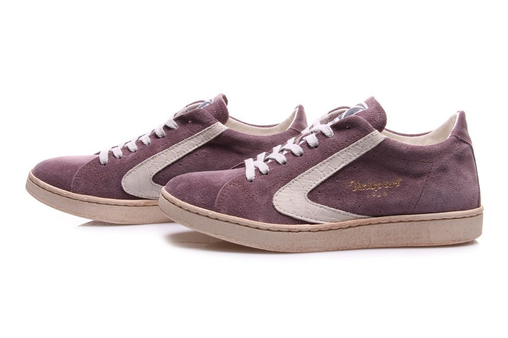 VALSPORT womens Tournament sneakers purple/beige suede