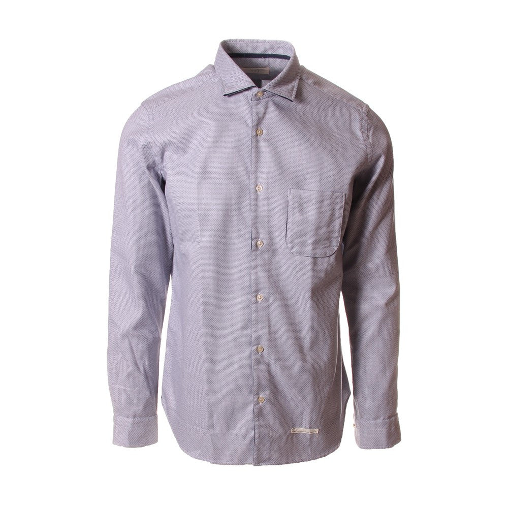 TINTORIA MATTEI 954 Mens light blue white cotton Shirt