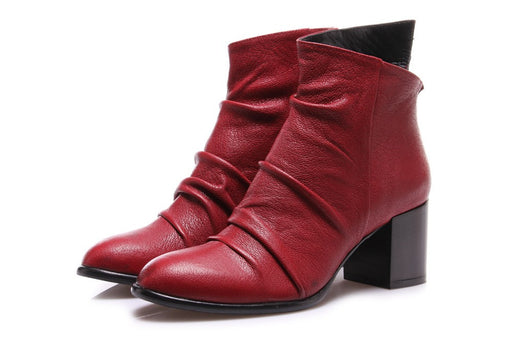 SALVADOR RIBES womens red tulia 2 Ankle boots