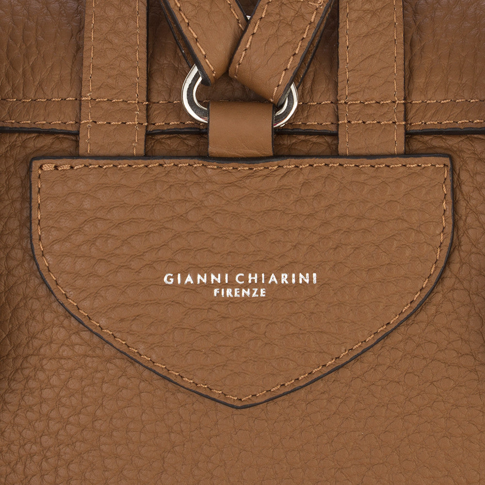 GIANNI CHIARINI womens light brown leather Backpack
