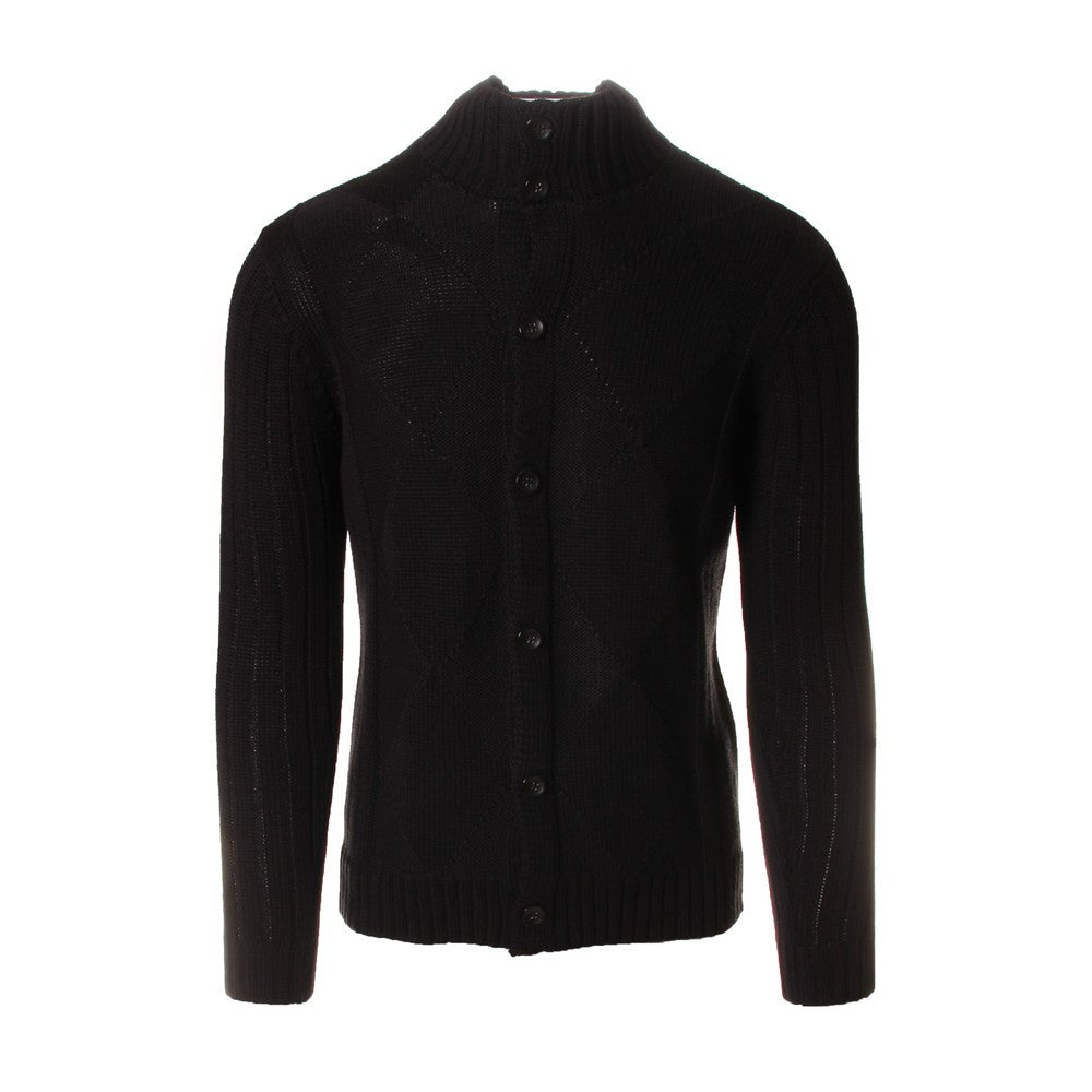 OFFICINA36 mens black wool Cardigan