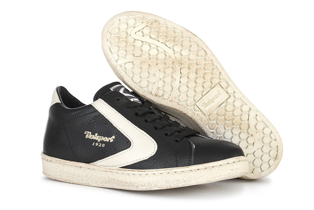 VALSPORT womens Tournament sneakers black/cream leather