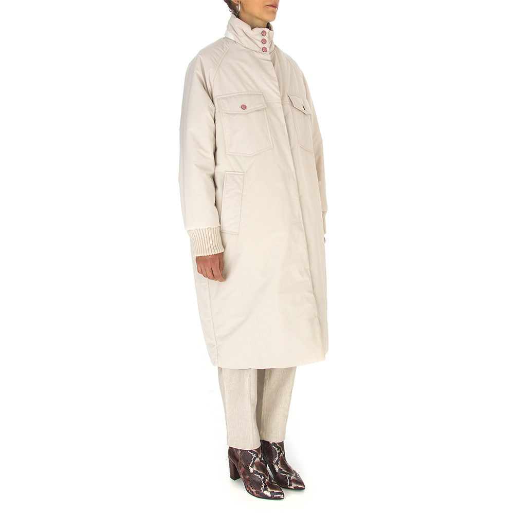 OOF womens beige multicolor reversible Coat