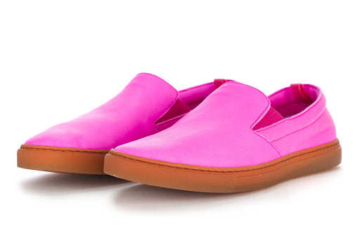 MANOVIA 52 womens fuchsia leather Slip on shoes