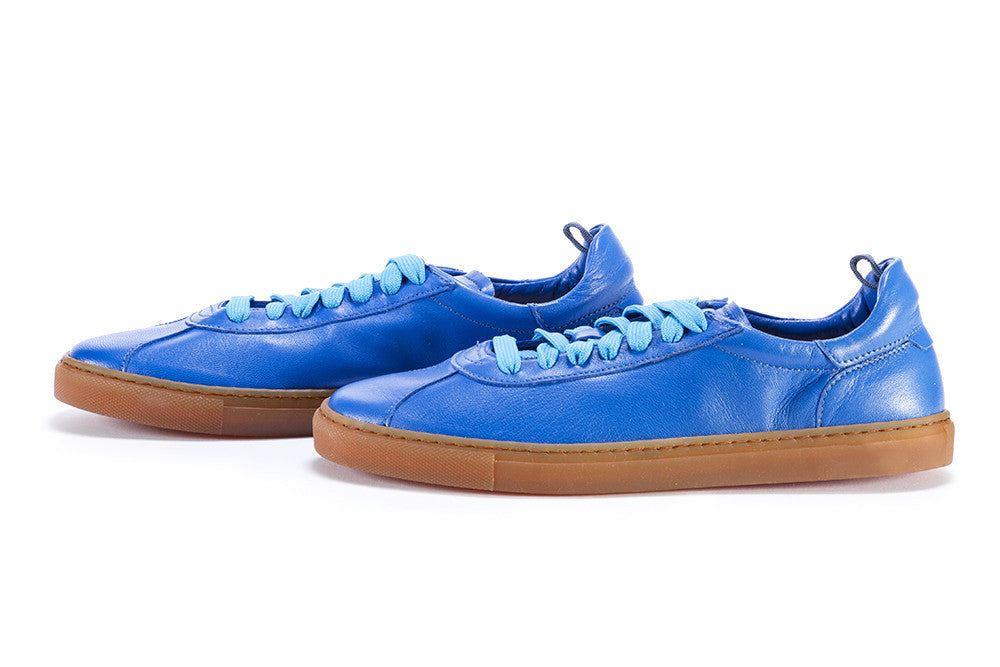 MANOVIA 52 womens positano blue leather Sneakers