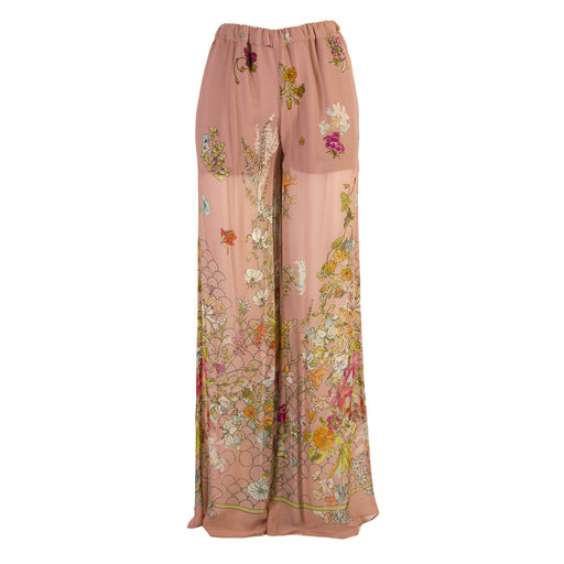SEMICOUTURE womens pink viscose Palazzo pants