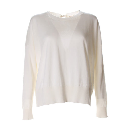 SEMICOUTURE womens white wool Sweater