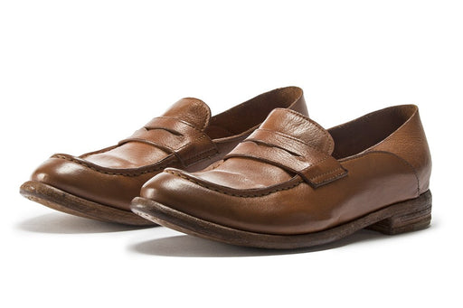 OFFICINE CREATIVE womens cognac brown Mocassin