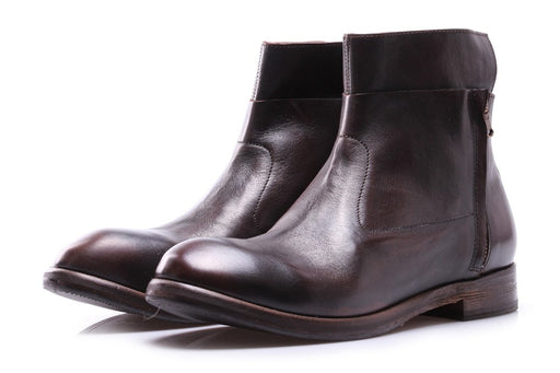 J.P. DAVID mens ebony leather Ankle boots
