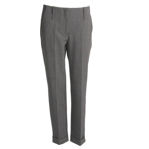 KUBERA 108 womens grey wool blend Chino pants