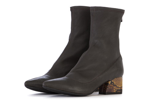 L'ARIANNA womens dark brown Sock boots