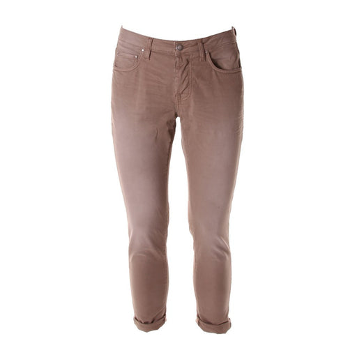 AGLINI mens brown stretch cotton Chino pants