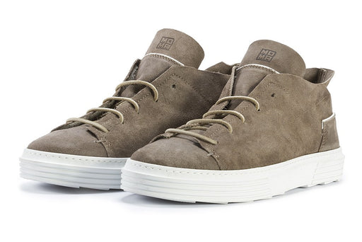 MOMA mens mud brown suede Sneakers