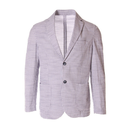 BASTONCINO mens blue white cotton  Jacket