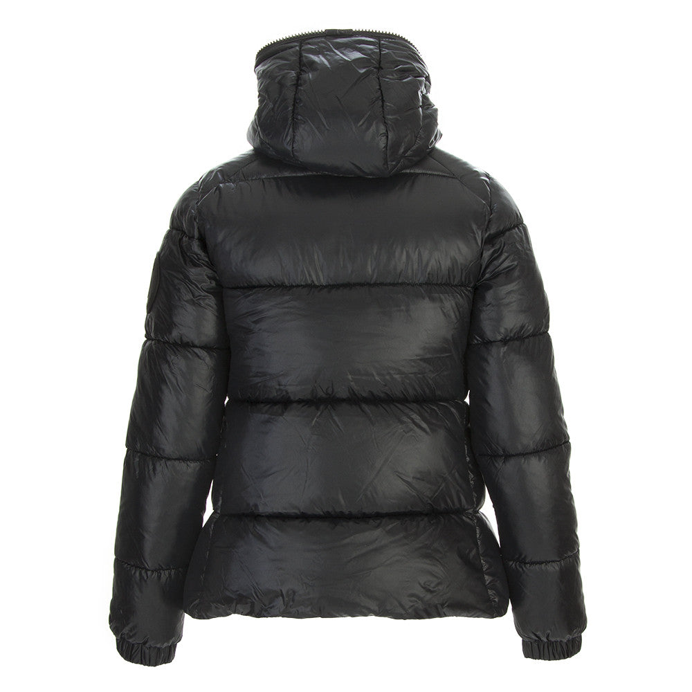 SAVE THE DUCK Womens glossy black eco-friendly Down jacket