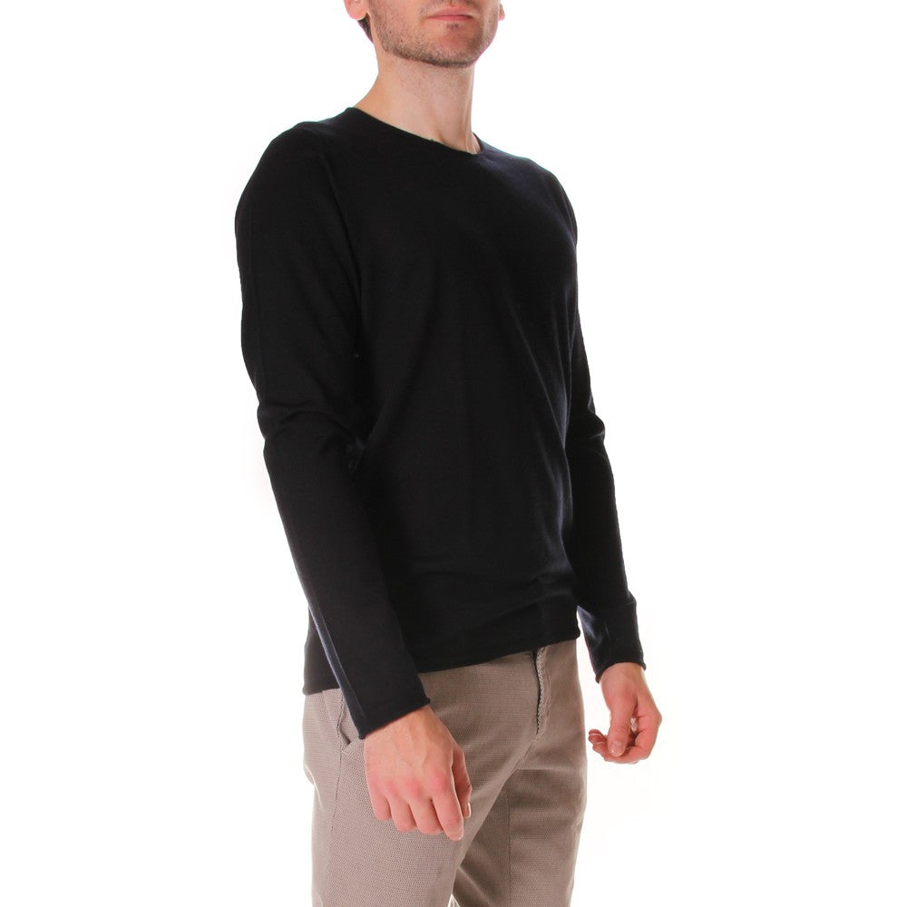 HOSIO mens black wool Sweater