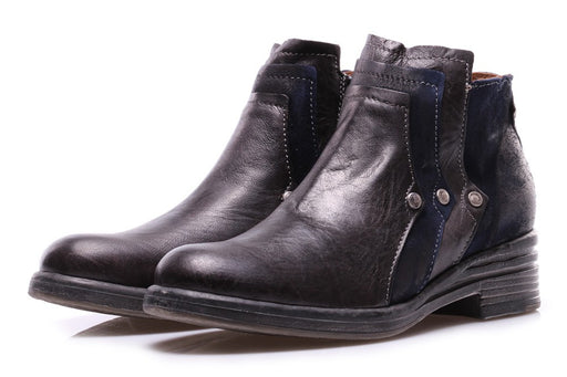 CLOCHARME womens black blue Ankle boots
