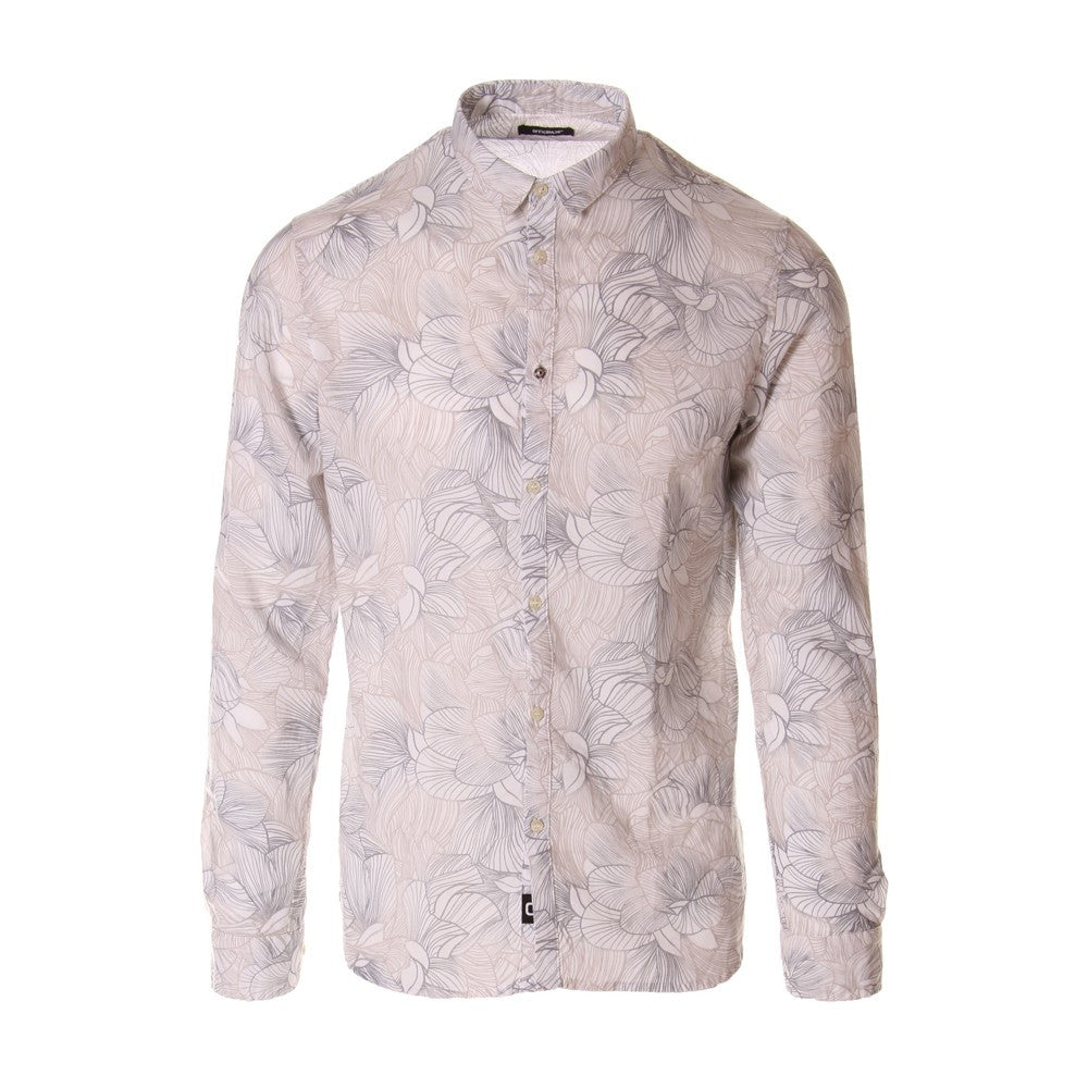 OFFICINA36 mens grey floral print cotton Shirt