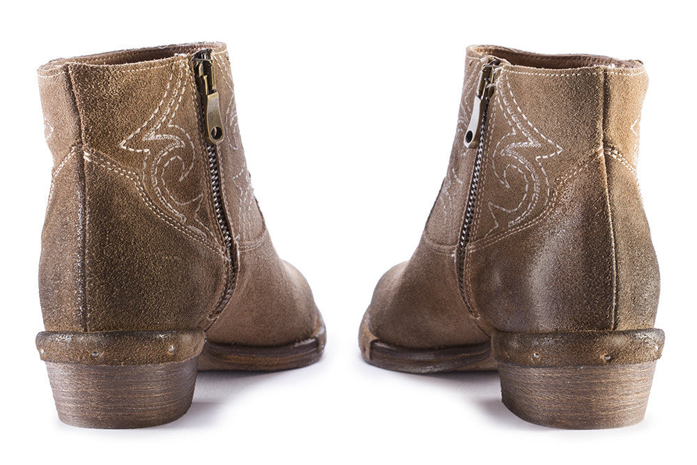 REP-KO womens brown leather Ankle boots