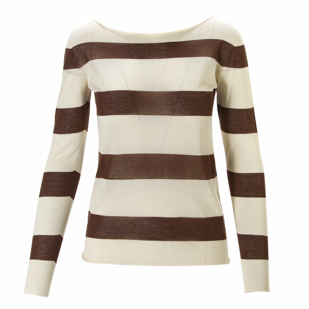PHISIQUE DU ROLE Womens beige brown cotton Sweater