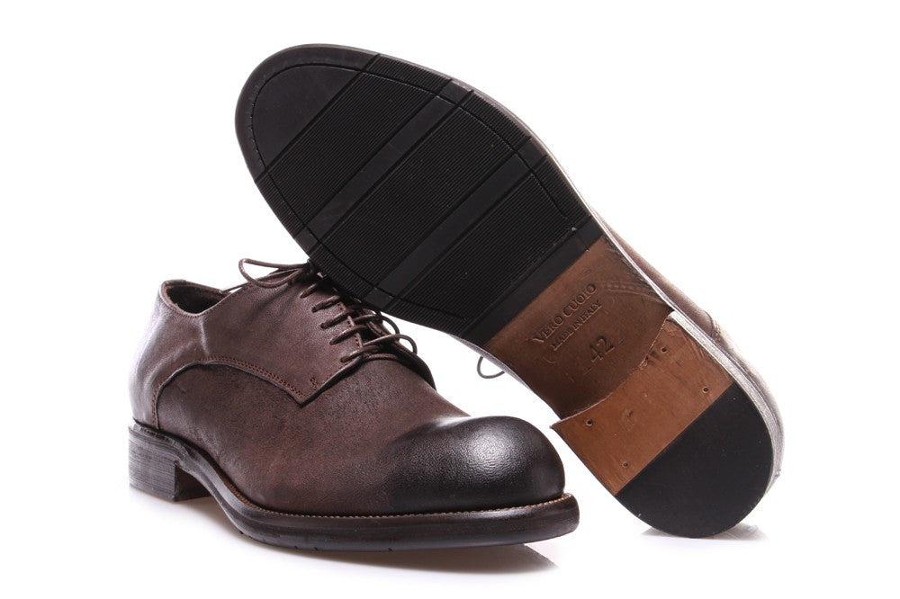 TON GOUT Mens brown leather Flat lace ups shoes