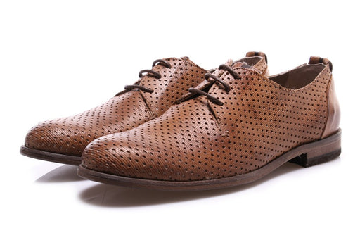 MANOVIA 52 mens light brown leather Derby shoes