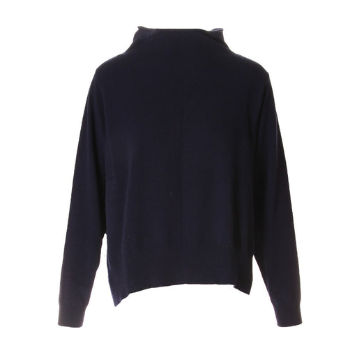 Semicouture womens dark blue wool blend sweater