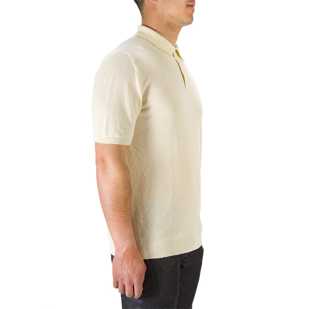 ROBERTO COLLINA mens beige cotton Polo